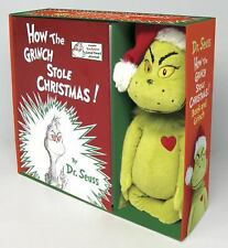 HOW THE GRINCH STOLE CHRISTMAS Dr. Seuss NEW Book & Toy BOXED Gift Set SUESS Lot