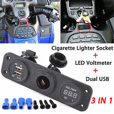 Cigarette Lighter Socket Splitter 12V Dual USB Charger Power Adapter Outlet Car