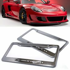 License Plate Stainless Chrome Frame Gemballa Hairline Emblem 2P for All Vehicle