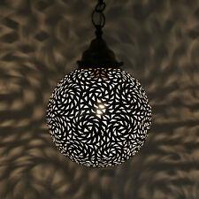 Orientalische Hängeleuchte Marokkanische Lampe Hängelampe -Karakor- aus Messing