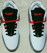FUBU REED 3 WHITE WITH RED MID TOP ANKLE SUPPORT ATHLETIC SHOE MEN SIZE 8 NEW