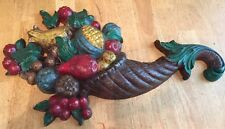 SYROCO Colored FRUIT & FLORAL WALL PLAQUES 5170 ORNATE VINTAGE 1965 MID MODERN