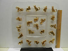 """Square Glass Platter with Gold Cats 13.5"""" by 13.5"""" Cat"""