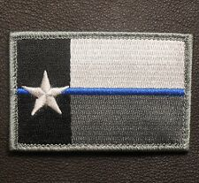 TEXAS TX STATE FLAG THIN BLUE LINE COP POLICE LAW ENFORCEMENT SWAT VELCRO PATCH