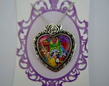 Beauty and the Beast - stained glass - Disney inspired heart necklace