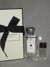 NIB Jo Malone cologne 3.4oz/100ml ENGLISH PEAR & FREESIA Cologne Spray + 2 sampl