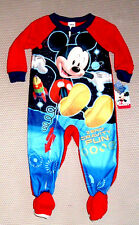 Disney MICKEY MOUSE 4T FOOTED PAJAMAS BLANKET SLEEPER Zero Gravity Fun!! ~ NWT