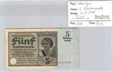 BILLET ALLEMAGNE - 5 RENTENMARK - 2-1-1926** - RARE!!!!