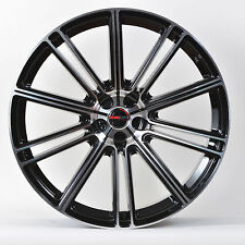 4 GWG Wheels 18 inch Black Machined FLOW Rims fits LINCOLN CONTINENTAL 1988-2002