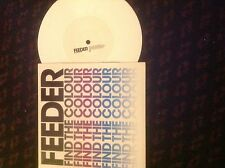 "Feeder-Find The Colour/Remember The Silence 7"" White Vinyl Indie Rock 2003 Echo"