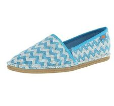 Rocket Dog Women's Henna Wave Runner Cotton Boat Shoe Turquoise Size 9