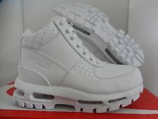 NIKE AIR MAX GOADOME QS BOOTS ALL WHITE SZ 5Y-WOMENS SZ 6.5 RARE! [830511-111]