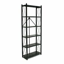 Origami Rb-01 6-tier Book Shelf, Black