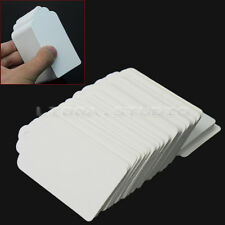 100Pcs Kraft Paper Hang Tags Party Favor Gift Label Blank Cards 4.5x9cm White