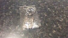 CHEVROLET SILVER COLOURED METAL KEYRING with Belt Clip