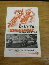 19/06/1971 Speedway Programme: Belle Vue v Swindon (results/riders/positions all