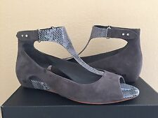 TSUBO GERRI SNAKE CHARCOAL WOMEN WEDGE SHOE US 7 / EU 38 / UK 5.5- NIB