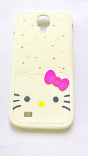 Cover CUSTODIA case per SAMSUNG GALAXY S4 HELLO KITTY 3D DIAMONDS BRILLANTINI