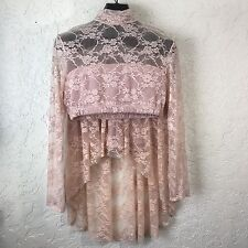 BALERA LACE SHORTS DRESS DANCE COSTUME SOLO COMPETITION Adult XL Lace Pink