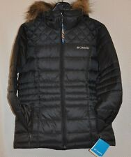 Womens Ski Black COLUMBIA Prestine Powder Puffer Jacket Coat sz S