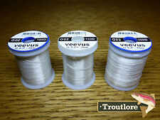 3 x SPOOLS VEEVUS GSP THREAD WHITE - NEW FLY TYING SUPPLIES & MATERIALS