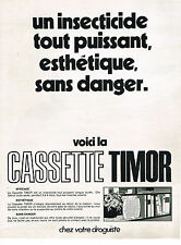 PUBLICITE ADVERTISING 024   1969   TIMOR   insecticide cassette