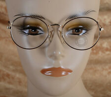 Oval Round Lens Metal Frame Clear Lens Fashion Glasses Gold Tone Hippster USA