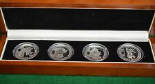 "2013 -Silver Proof Crown Set-4 Coins 12.5 g-ea ""Heraldic Beasts""- 99.9% Silver"