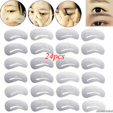 24 Styles Eyebrow Shaping Stencils Grooming Kit Makeup Shaper Template DIY Tool