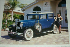 1929 Oakland 4 dr sedan car print (blue & white)