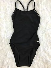 SPEEDO Women's Black One Piece Racerback Swimsuit  XS 30