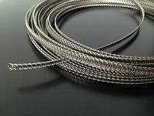 "72"" spiral wire boning metal steel 3/16"" 5mm for corset wedding dresses + 2 tips"