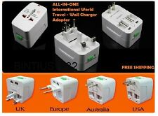 ALL-IN-ONE World Travel Wall Charger Adapter International AC Power Converter