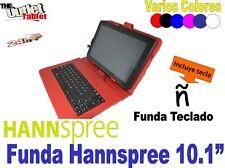 """FUNDA CON TECLADO TABLET HANNSPREE 10.1"""" 101 VARIOS COLORES HANSPRE"""