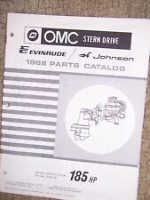 1968 OMC Evinrude Johnson Stern Drive 185 HP KU-16C KUE-16C  Parts Catalog  V
