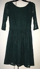 Atmosphere Girls Green Lace Dress - Size 8 UK