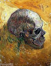 Skull Poster/Print /Skeleton/Van Gogh/17x22 inches
