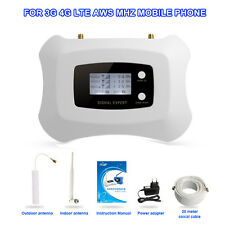 booster AWS1700MHz cellphone signal repeater with LCD for America 3g 4g 70dBi