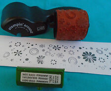 "STAMPIN' UP AROUND jumbo 2"" Rollagraph Handle, rubber wheel, black ink cartridge"
