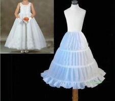 New 3 HOOP flower girl skirt party wedding petticoat slips underskirt crinoline