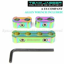 FOR ACUR HOND A! JDM SPARK PLUG WIRE SEPARATORS CLAMP HOLDER NEOCHROME 4CYL KIT