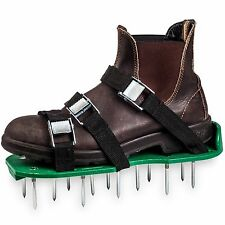Lawn Aerator Shoes with Metal Buckles and 6 Straps - Heavy Duty Spiked Sandal...