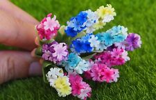Miniature Clay Handmade Multi-Color Hyacin flowers Home Decorative Collectible