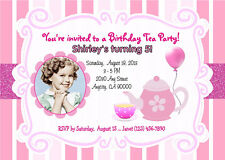 TEA PARTY CUSTOM PRINTABLE PHOTO BIRTHDAY PARTY INVITATION & FREE THANK U CARD