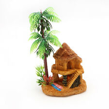 Aquarium Simulation Coconut Tree Castle Fish Tank Ornaments Decor Landscape