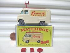 Lesney Matchbox Rare 1962 Cream RW62B TV SERVICE Van RENTASET Decals GPW MintBxd