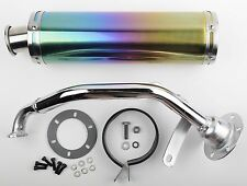 150cc GY6 Performance Exhaust Multi Colored Chrome