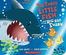 The Three Little Fish and the Big Bad Shark: A Board Book-ExLibrary