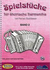 Steirische Harmonika Noten : Spielstücke für Steirische Harmonika 2 m. CD leM