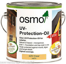 Osmo UV Protection Oil Extra 420D Clear Semi-Matt 2.5 litre - For Exterior Wood